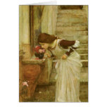 Vintage Victorian Art, The Shrine by JW Waterhouse Greeting Card