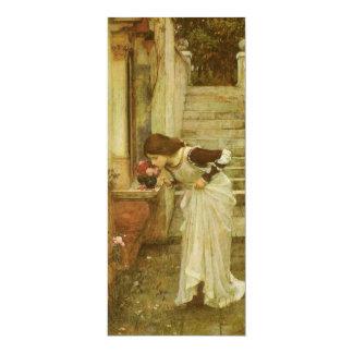Vintage Victorian Art, The Shrine by JW Waterhouse 10 Cm X 24 Cm Invitation Card