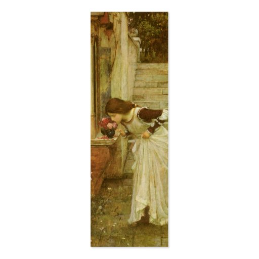 Vintage Victorian Art, The Shrine by JW Waterhouse Pack Of Skinny Business Cards