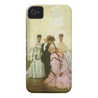 Vintage Victorian Art, Too Early by James Tissot iPhone 4 Covers