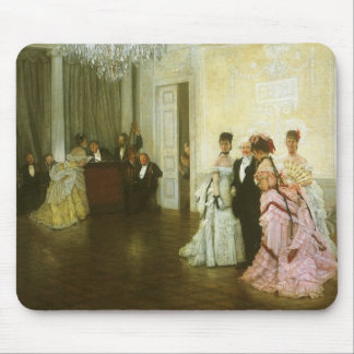 Vintage Victorian Art, Too Early by James Tissot Mouse Pad