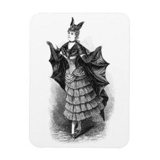 Vintage victorian bat women magnet