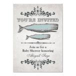 Vintage Victorian Beach Whale Baby Shower Invite 11 Cm X 16 Cm Invitation Card