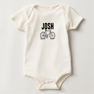 Vintage/Victorian Bicycle Engraving Personnalised Baby Bodysuit