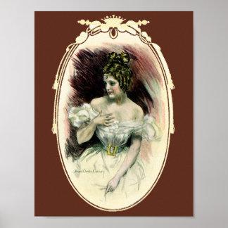 Vintage Victorian Bridal Portrait Print