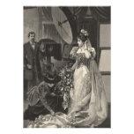 Vintage Victorian Bride, Bridal Portrait Custom Announcements