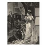 Vintage Victorian Bride, Bridal Portrait Post Card