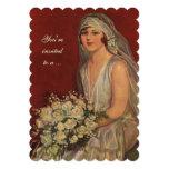 Vintage Victorian Bride Portrait, Bridal Shower 13 Cm X 18 Cm Invitation Card