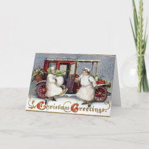Vintage Victorian, c. 1912 Christmas Holiday Card