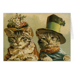Vintage Victorian Cats in Hats, Funny Silly Humor Cards