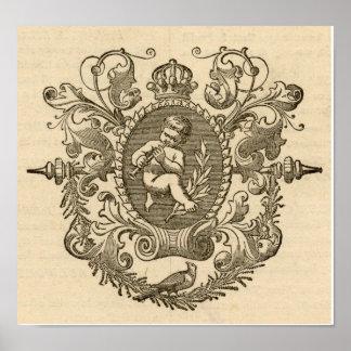 Vintage Victorian Cherub Art Print