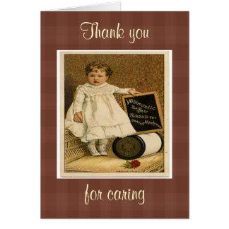 Vintage Victorian Child Ad Thread Greeting Card