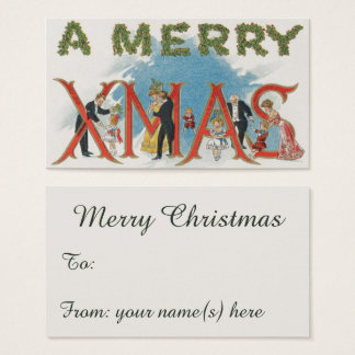 Vintage Victorian Christmas, A Merry Xmas Party Business Card