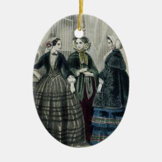 Vintage Victorian Christmas Fancy Edwardian Garb Christmas Ornament