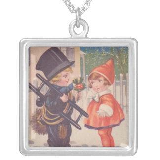 Vintage Victorian Christmas Kids Necklace