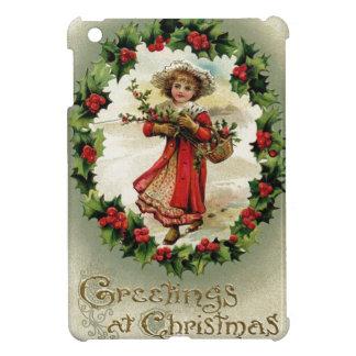Vintage/Victorian Christmas Scene Card Case For The iPad Mini