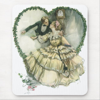 Vintage Victorian Christmas Wedding Mouse Pad