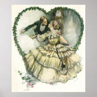 Vintage Victorian Christmas Wedding Print