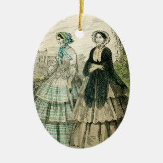 Vintage Victorian Christmas Women Edwardian Fancy Christmas Ornament