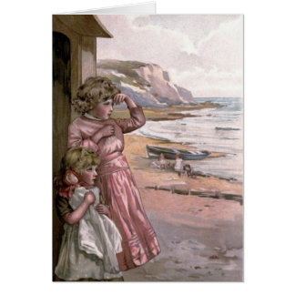 Vintage Victorian & Cute: Children at the Beach Greeting Cards