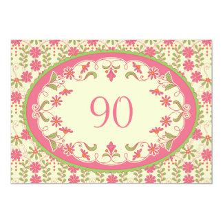 Vintage Victorian Daisy Birthday Invitation