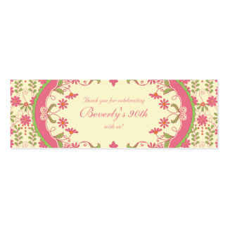 Vintage Victorian Daisy Floral Favour Tags Business Card Templates
