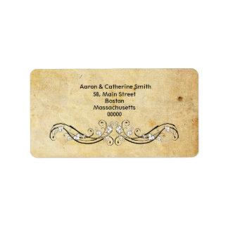 Vintage Victorian Damask Address Labels