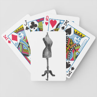 Vintage Victorian Dressform Full Body Poker Cards