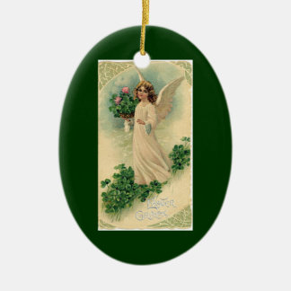 Vintage Victorian Easter Angel with Flowers Christmas Ornament