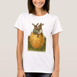 Vintage Victorian Easter Bunnies, Giant Easter Egg T-Shirt