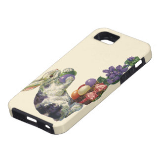 Vintage Victorian Easter Eggs, Bunny and Flowers Case For The iPhone 5
