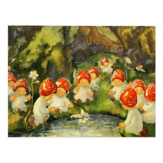 Vintage Victorian Fairies Postcard