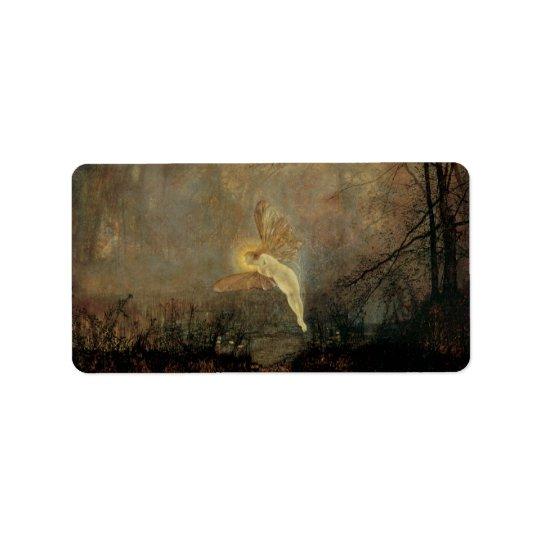 Vintage Victorian Fairy, Midsummer Night, Grimshaw Address Label