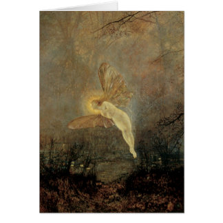 Vintage Victorian Fairy, Midsummer Night, Grimshaw Greeting Card
