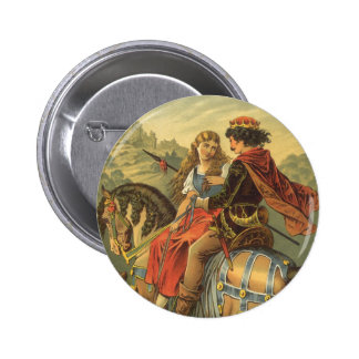 Vintage Victorian Fairy Tale, Brother and Sister 6 Cm Round Badge