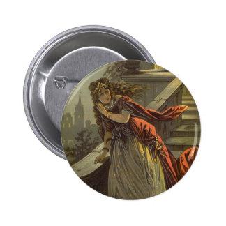 Vintage Victorian Fairy Tale, Cinderella Pinback Button
