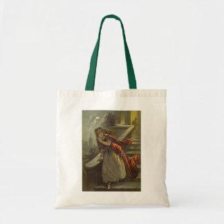 Vintage Victorian Fairy Tale, Cinderella Budget Tote Bag