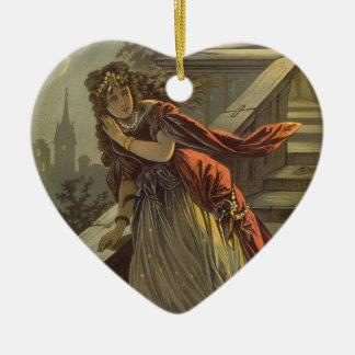 Vintage Victorian Fairy Tale, Cinderella Ceramic Heart Decoration