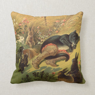 Vintage Victorian Fairy Tale, Puss in Boots Cushion