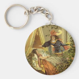 Vintage Victorian Fairy Tale, Sleeping Beauty Key Chain