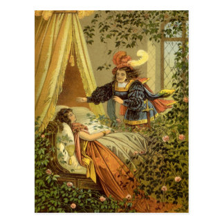 Vintage Victorian Fairy Tale, Sleeping Beauty Postcard