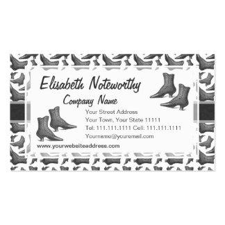 Vintage Victorian Fashion Boots Elegant Pattern Business Card