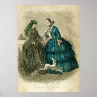 Vintage Victorian Fashion Poster
