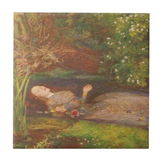 Vintage Victorian Fine Art, Ophelia by Millais Tile