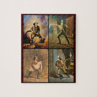 Vintage Victorian Firefighters Jigsaw Puzzle
