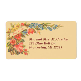 Vintage Victorian Floral Avery Shipping Label