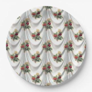 Vintage Victorian Flower Curtain Paper Plates