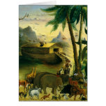 Vintage Victorian Folk Art, Noah's Ark by Hidley Greeting Card