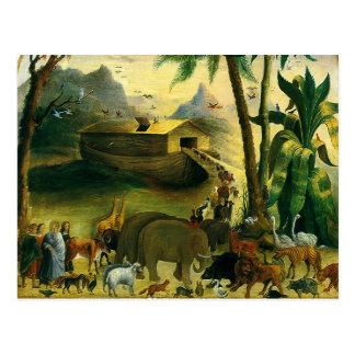 Vintage Victorian Folk Art, Noah's Ark by Hidley Postcard