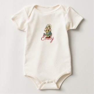 Vintage/Victorian French Children Personnalised Baby Bodysuit